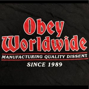 OBEY Worldwide Red & Black Logo T-Shirt
